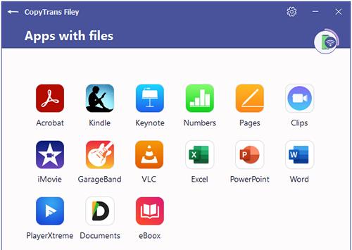 CopyTrans Filey all applications