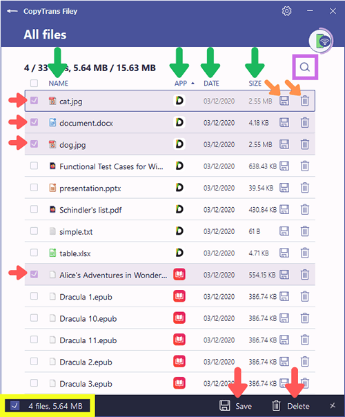 CopyTrans Filey all files