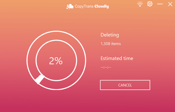 Delete all photos from iCloud Photo Library