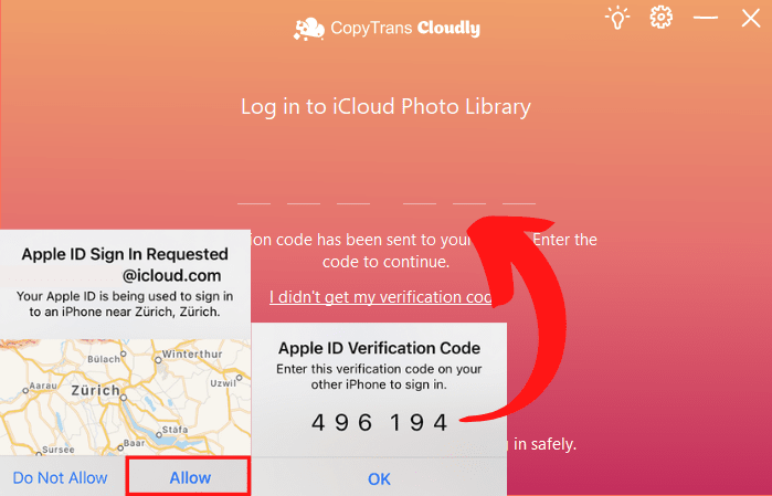 Two-factor authentication for iCloud
