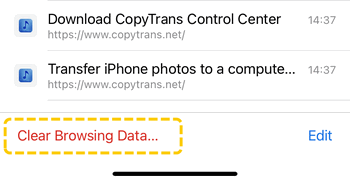 Free up space on iPhone by deleting Chrome browsing data