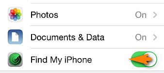 Turn off Find My iPhone iOS 12