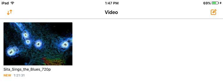 Movies saved iPad
