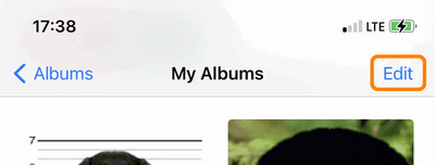 Edit photo albums on iPhone