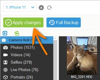 How to delete album on iPhone with CopyTrans Photo