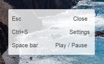 CopyTrans Photo slideshow keyboard shortcuts