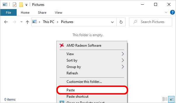 Pasting iPhone videos using Windows Explorer