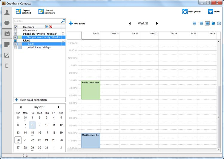 Here are your exported outlook calendar