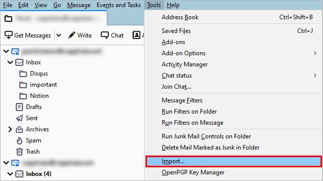 Thunderbird import contacts