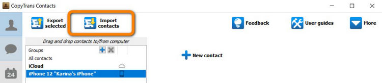 How to import contacts into iPhone