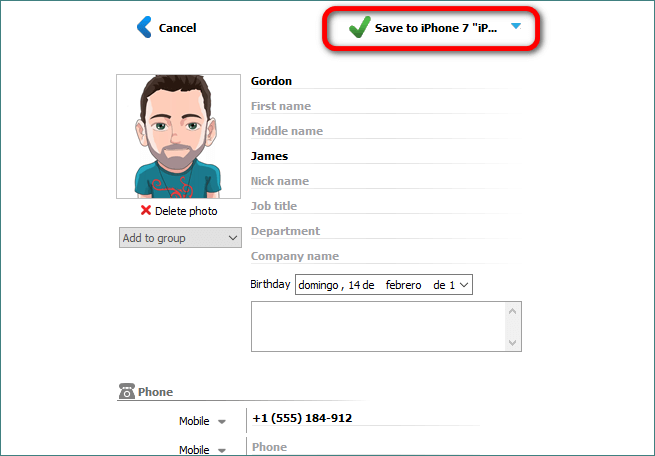 Save contact photo with CopyTrans Contacts