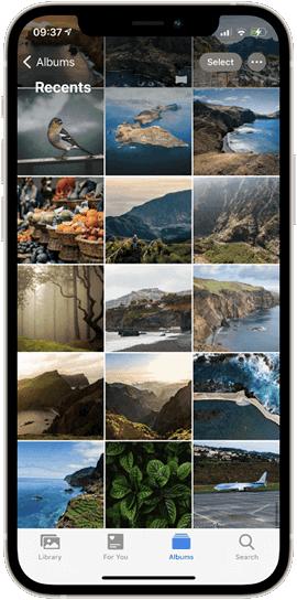 iPhone Photo app Recents album