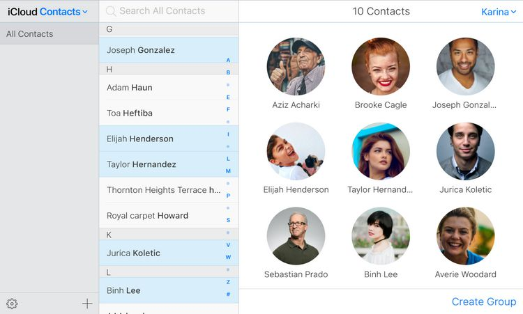 sync iphone contacts to icloud