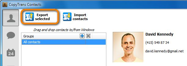 use copytrans contacts to transfer iphone contacts to android