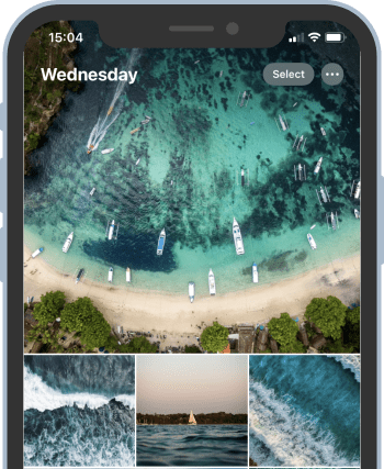 Photos imported from iPhone to iPhone