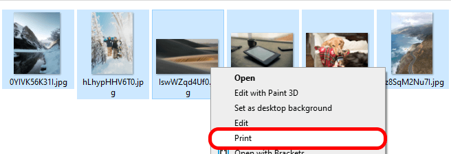 How to print pictures from iPhone