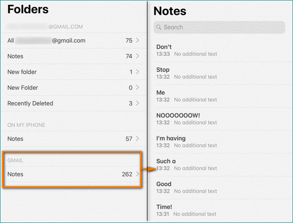 See Gmail notes on your iPhone