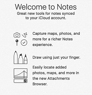 iPhone Notes synced with iCloud