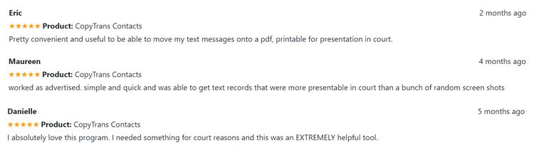 Can text messages be used in court