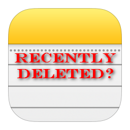 iphone deleted notes logo