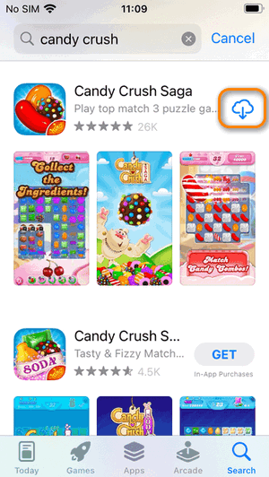 deleted apple store games restore