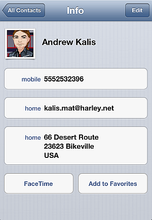 new iphone contacts