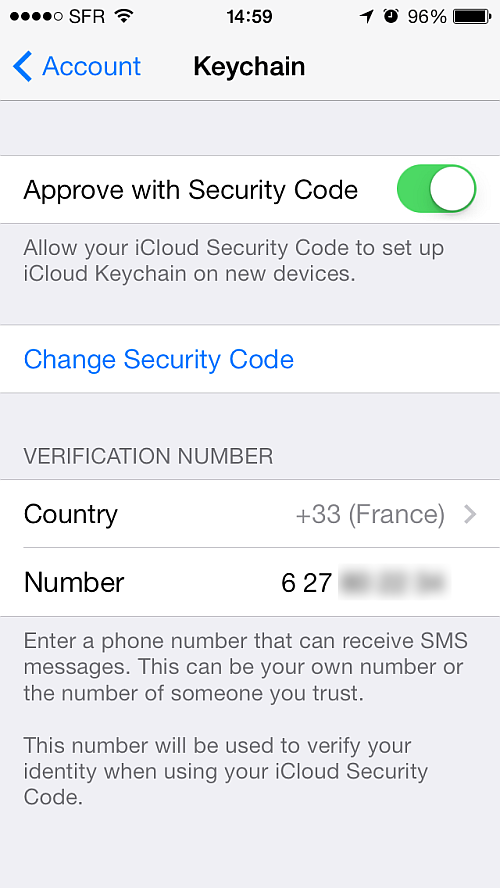 how to clear keychain on ios device
