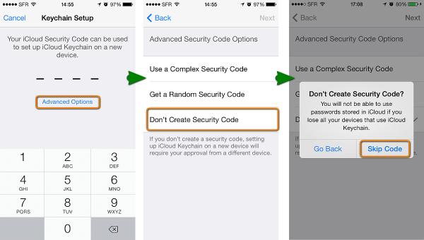 how to keep icloud keychain data offline
