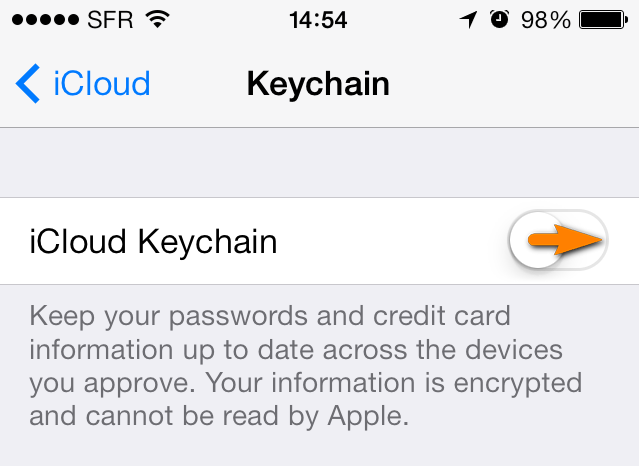 How to setup and use iCloud Keychain on iPhone or other iOS device ... 7b54dbb399f4