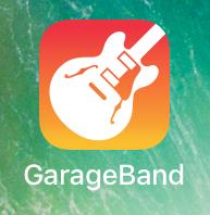 open the garagebande app