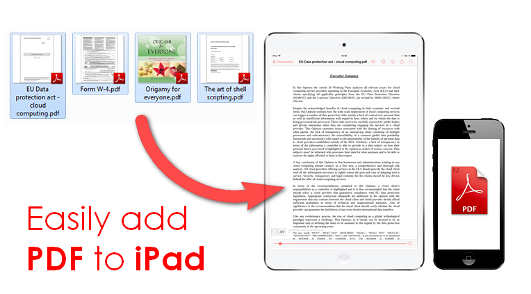 Can I A Pdf Document To My Ipad