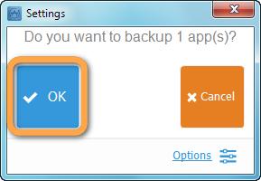 backup app prompt