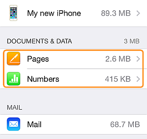 apps documents and data in icloud