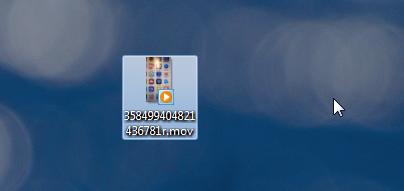 snapchat MOV video on computer desktop