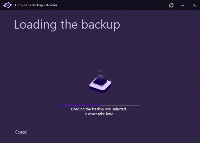 loading your backup