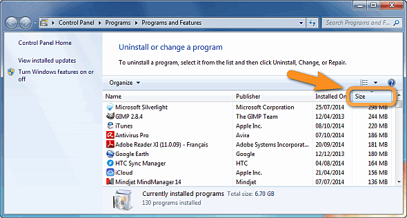 windows programs and features window