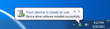 device is ready to use windows prompt