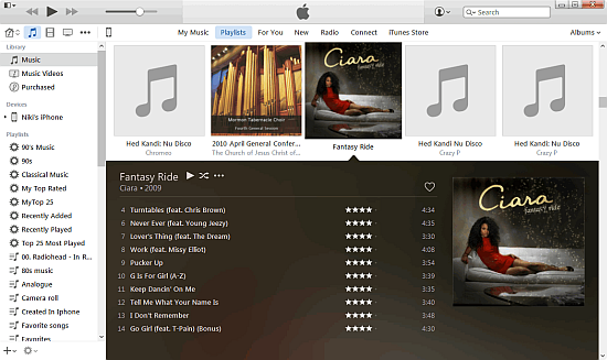 itunes complete with music and playlists