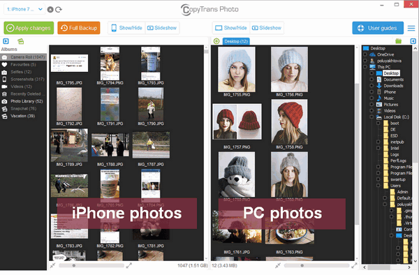 copytrans photo program interface