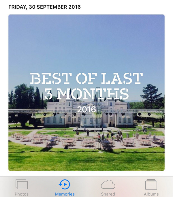 Memories selects best photos of the year or for the last three months