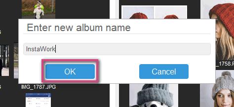 Name new album in CopyTrans Photo