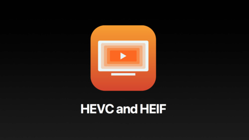 New photo formats - HEVC and HEIF