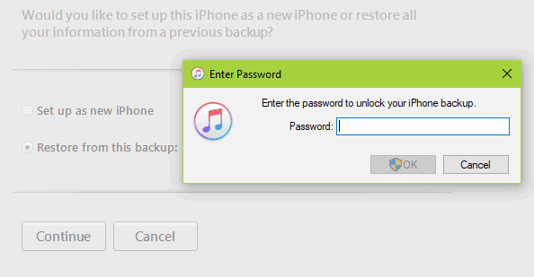 Solved] I forgot my iPhone backup password