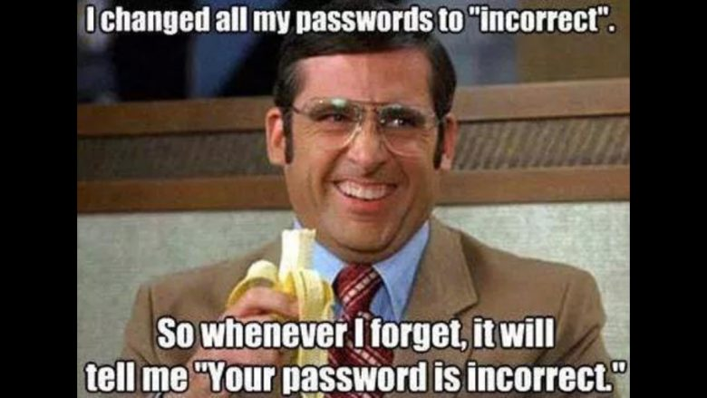 Incorrect password meme