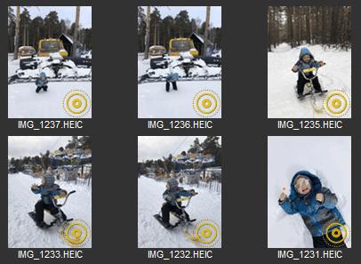 CopyTrans Photo has indicators for each Live Photo