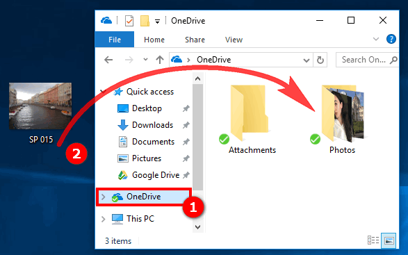 Add pictures to iPhone from PC with OneDrive app