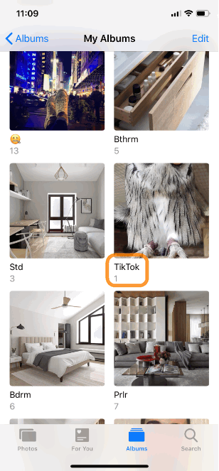 TikTok saves a video to your Camera Roll and creates a separate album