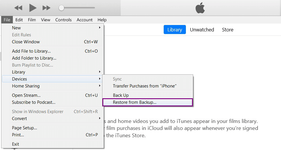 recover messages fro mbackup with iTunes