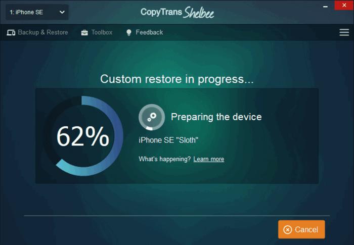custom restore of iohone contacts