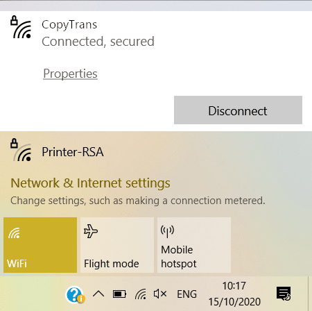 check wifi connection on PC
